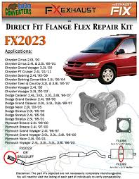 fx2023 semi direct fit exhaust flange repair flex pipe replacement