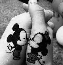 couple tattoo mickey mouse mickey mouse couple tattoo tattoo ideas center