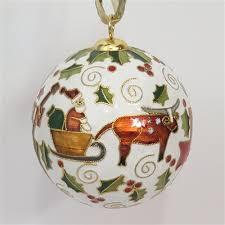tx with santa cloisonne ornament