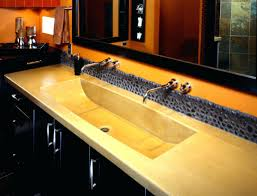 sinks double faucet trough sink kohler wall mounted bathroom