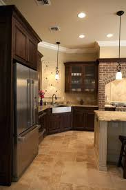 Wondrous Brown Wooden Kitchen Cabinetry by Awesome Idea Kitchen Floor Tiles With Light Cabinets Cool Design