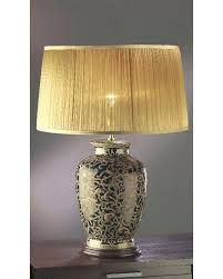 White Ceramic Table Lamps Table Lamps Black Ceramic Table Lamp With Metallic Silver Base