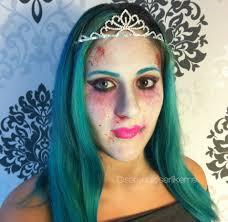 cartoon zombie princess halloween makeup tutorial how to