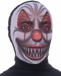 Scary Clown Halloween Costumes Adults Scary Evil Clown Costume Accessory Nylon Fabric Costume Mask