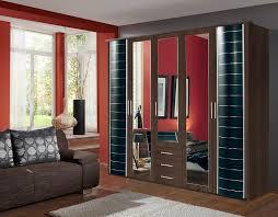 German Bedroom Furniture Companies Wardrobe German Made Walnut Black Wimex 5 Doors U0026 3 Drawers 7 Star