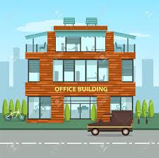 bureau ville la grand immeuble de bureaux moderne dans le style plat intérieur et