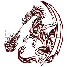 drawn flames dragon pencil and in color drawn flames dragon