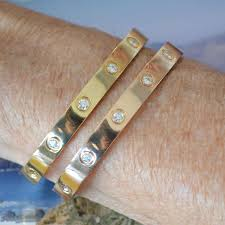 love bracelet rose gold images Love bracelet rose gold with 10 diamonds size 17 jpg