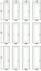 Standard Sliding Closet Door Size Standard Interior Closet Door Sizes Frame Dimensions Size Of