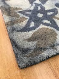 Blue Brown Area Rugs Handmade Wool Floral Blue Brown 5x8 Lt1008 Area Rug
