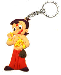 rubber keychains chhota bheem design