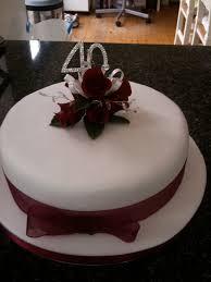 40th wedding anniversary cake mom and dad 40th anniversary