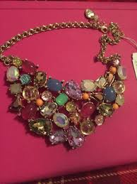 multi colored stones necklace images Betsey johnson sweet shop bib statement necklace multi colored jpg