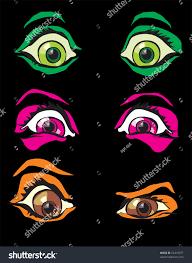 halloween costume monster scary eyes horror stock vector 62434597
