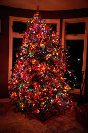 tree decorating ideas with multi colored lights type b