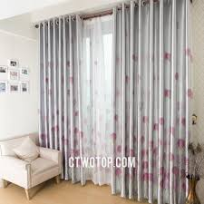 Gray And Pink Curtains Silver Inexpensive Floral Country And Modern Blackout Curtains