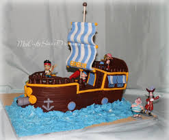 pirate ship cake jake and the neverland pirate ship cake cakecentral