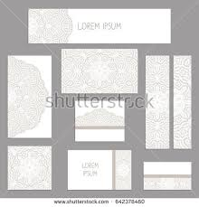 Brochures And Business Cards Template Greeting Business Cards Brochures Covers Stock Vector