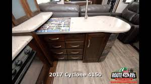 2017 heartland cyclone 4150 fifth wheel toy hauler in claremore