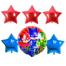 shop 6pcs 18inch pj mask star foil balloons baby shower