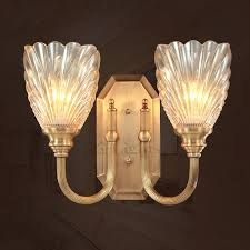 Brass Wall Sconce Rustic 2 Light Antique Brass Wall Sconce Glass