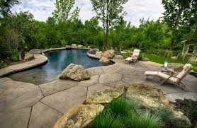 Landscaping Around Pool Natural Swimming Pools Design Ideas Inspirations Photos