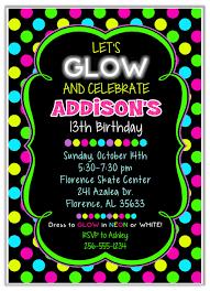 glow in the birthday party neon glow birthday party invitations kids birthday