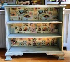 furniture vintage blue distressed bookcase and 3 level distressed