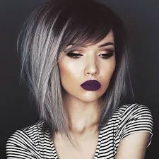 make up tips for salt and pepper hair short grey hair gold eye makeup and purple lips ladystyle