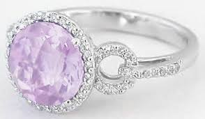 pink gemstones rings images Light purple amethyst and diamond ring in 14k white gold gr 2091 jpg