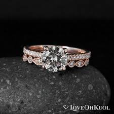 vintage wedding ring sets forever brilliant moissanite vintage wedding ring set half