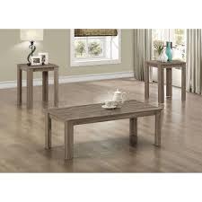 Outdoor Coffee Table Set Monarch Table Set 3pcs Set Dark Taupe Walmart Com