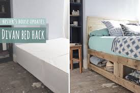 stolmen bed hack divan bed hack rustic bed with lots of storage youtube