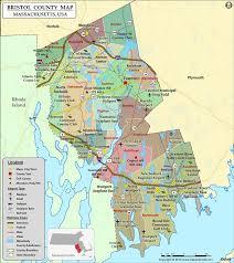 road map massachusetts usa bristol county map massachusetts