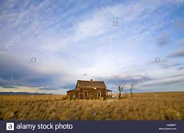 Prairie House by A 1930s Great Depression Era House On The Grassy Prairie Near