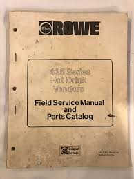 rowe 425 series drink vendors field service manual u2022 24 99