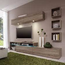 Wohnzimmerschrank Ohne Fernseher Wohnwand Colourart Vi 6 Teilig Ohne Beleuchtung Sonoma Eiche