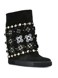 womens boots sale clearance casadei blade cheap casadei floral embellished flat boots