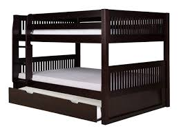 Bunk Bed With Trundle On Low Bunk Bed Trundle Mission Black