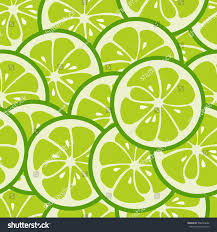 lime slice silhouette cute seamless pattern green lime slices stock vector 368430632