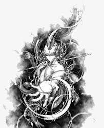 imagen blanco y negro en illustrator blanco y negro tinta illustrator blanco y negro tinta personaje