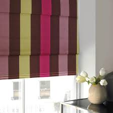 Making Roman Blinds Taffeta Stripe Roman Blind Fuschia Free Uk Delivery Terrys Fabrics