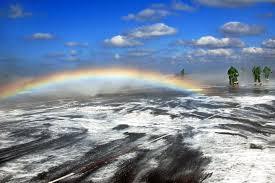 free public domain image rainbow on the flight deck of aircraft