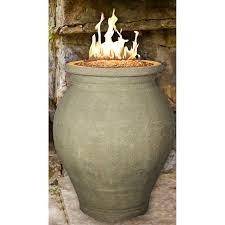 Sand Vase Homcomfort Outdoor Propane Fire Vase With Firestones Hayneedle