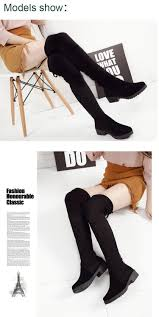 womens motorcycle boots fashion women new over the knee thigh high black boots women motorcycle