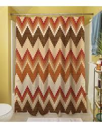 aztec print shower curtain brown orange bathroom pinterest aztec print shower curtain brown orange