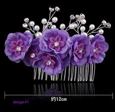 bridesmaid hair accessories purple hair combs wedding party prom hair accessories for flower