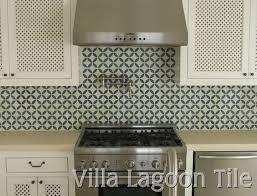 tile kitchen backsplash cement tile backsplashes villa lagoon with regard to