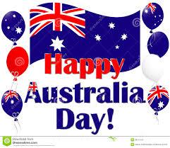 Austailia Flag Australia Day Background With Australia Flag Ballo Stock Vector