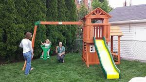 Weston Backyard Discovery Backyard Discovery Brookfield Playset From Walmart Installed In